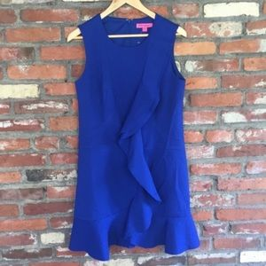 Betsey Johnson Royal Blue Ruffle Dress NWOT